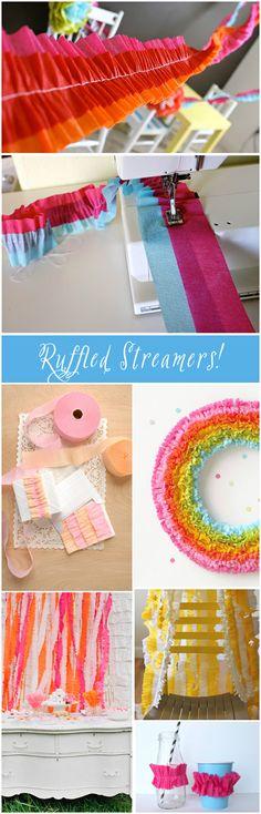 Party ● Tutorial ● DIY ● Ruffled Crepe Paper Streamers
