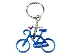 Porte-clé décapsuleur vélo (Bleu)