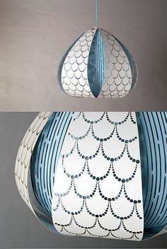 Paper Tales: laser cut pendant lamp made out of paper / Ania Pauser
