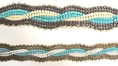 Herringbone cable pattern, 1st seen in Bead & Button by Rae Arlene Reller by leona