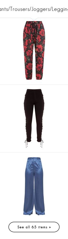"""Pants/Trousers/Joggers/Leggings"" by thatbytchroman ❤ liked on Polyvore featuring pants, bottoms, trousers, calças, floral, harem pants, patent leather pants, floral-print pants, harem trousers and relaxed fit pants"