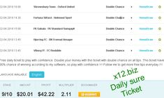 Daily Sure Ticket from yesterday was free for all members and double your money with very good odd !!!