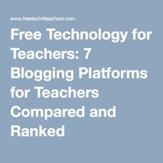 free blogging platforms comparison essay