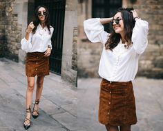 Get this look: http://lb.nu/look/7799924  More looks by Beatrice Gutu: http://lb.nu/thefashioncuisine  Items in this look:  Blouse, Skirt, Shoes   #bohemian #chic #classic