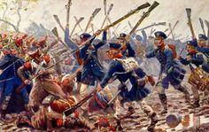 (milicia de reservistas) prusiana en la batalla de Dennewitz 1813