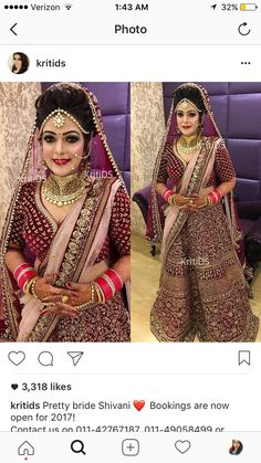 Bride Indian, Punjabi Bride, Indian Bridal Wear, Brocade Lehenga, Anarkali, Latest Designer Sarees, Indian Designer Outfits, Indian Dresses, Indian Outfits