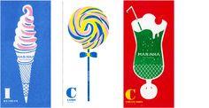 Message Card 3pattern ICE CREAM / CANDY / CREAM SODA MARINKA Ice Cream Illustration, Kawaii Illustration, Graphic Illustration, Book Design, Design Art, Graphic Design, Cream Candy, Cream Soda, Fancy