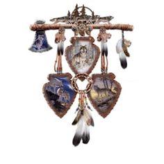 Native american dreamcatchers of the wild wolf art native