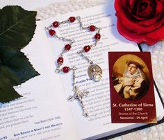 Unbreakable Relic Chaplet of St. Catherine of by foodforthesoul
