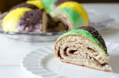 Mardi Gras King Cake by Seeded at the Table