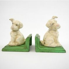 Puppy DOG Bookends Vintage Cast Iron Kids Home Decor Accessory Cute Office Books | eBay