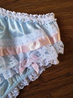 Baby Blue Bikini Panties/Silky Satin Sissy Knickers image 3 - Bikini Underwear - Ideas of Bikini Underwear Satin Roses, Pink Satin, Hipster, Cute Lingerie, Bikini Underwear, Bra And Panty Sets, Lingerie Collection, Baby Blue, White Lace