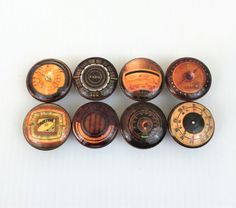 Set of 8 Vintage Radio Dial Print Cabinet Knobs Cabinet Knobs, Home Goods, Cool Stuff, Bobs, Vintage, Amazon, Amazons, Squares, Riding Habit