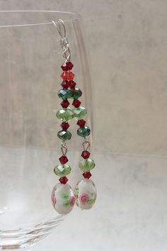 Long glass beads earrings by AGoodBead on Etsy, $15.00