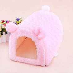 2016 Cute Pink Princess Pretty Pig Pet Dog House Bed Kennel Sofa Bed Size S M #Handmade
