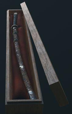 ArtStation - Sekiro Fanart - Fushigiri (The Mortal Blade), Sebastian Schulz Samurai Weapons, Ninja Weapons, Katana Swords, Samurai Art, Ninja Armor, Ninja Sword, Fantasy Sword, Fantasy Weapons, Weapon Concept Art