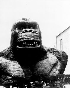 Head and shoulders of Kong, designed by special effects wizard, Willis H. O 'Brien, at RKO Studios.  1933