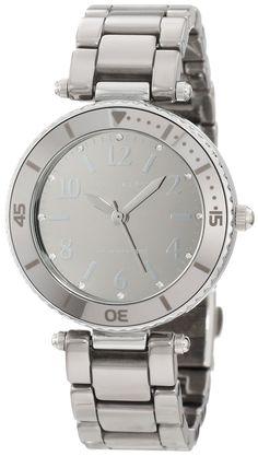 #Anne #Watch , Anne Klein Women's 10/9983TMTC Swarovski Crystal Accented Titanium-Tone Ceramic Bracelet Watch...$127.50