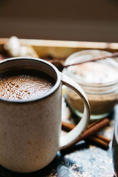 CREAMY AND NUTTY CAFFEINE FREE CHAI LATTE http://everydaycookingwithmira.com/creamy-and-nutty-caffeine-free-chai-latte/  #Caffeinefree #vegan #dairyfree #sugarfree #hotdrinks