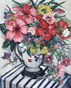Deutscher and Hackett Sidney - Mixed Flowers-Margaret Preston Margaret Preston, Margaret Rose, Art Deco Paintings, Paintings I Love, Acrylic Paintings, Oil Paintings, Australian Wildflowers, Australian Flowers, Australian Painting
