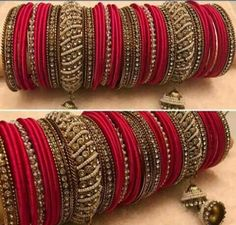 Darling Boho jewelry bangles,Cute jewelry classy and Jewelry aesthetic gift. Silk Thread Bangles, Thread Jewellery, Antique Jewellery, Bangle Set, Bangle Bracelets, Necklaces, Bridal Bangles, Bridal Jewelry, Diy Jewelry