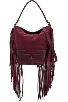 e277e8cc34 Shop on-sale Jérôme Dreyfuss Mario fringed paneled suede shoulder bag.  Browse other discount designer Shoulder Bags   more on The Most Fashionable  Fashion ...