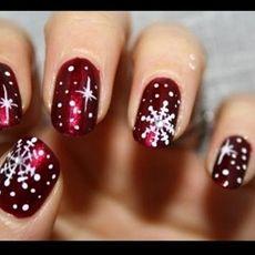 Christmas snowflakes nails designs