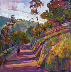 Horse Trail Paso Robles California Landscape by redrockfineart, $4800.00