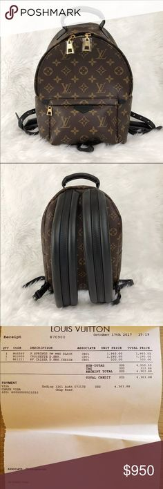 Louis Vuitton Mini Palm Springs Backpack txt me to check if its still available 323 305 5590.  Brand new authentic Palm Spring Small backpack never use once. It was a gift from a friend. The original price was $2000 with tax. I sell it back for $1800 firm with free shipping. The backpack comes with box, bag, and pictures receipt Louis Vuitton Bags Backpacks