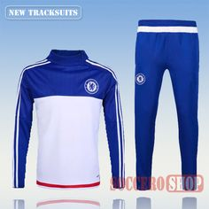 Newest Best Mens Chelsea 2016 2017 Blue White Tracksuit Personalised Customised | Thai Edition
