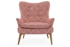 Sonja Chair, Pink/White Aztec | Designer Spotlight | One Kings Lane