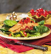 Salmon Salad with Tomatoes, Capers and Dill Vinaigrette