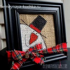 Burlap Christmas art Mom use all your frames Homemade Christmas, Christmas Snowman, Rustic Christmas, Winter Christmas, Diy Christmas Frames, Fall Winter, Snowman Crafts, Christmas Projects, Holiday Crafts