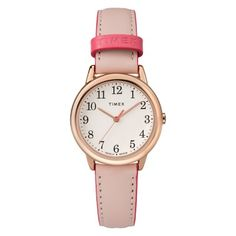 eb01a0116dae Women s Timex Easy Reader Watch with Leather Strap - Pink TW2R62800JT   Easy