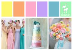 ... Yellow, Orange, Coral, Pink, Lilac, turquoise, Blue, Mint, Green) More