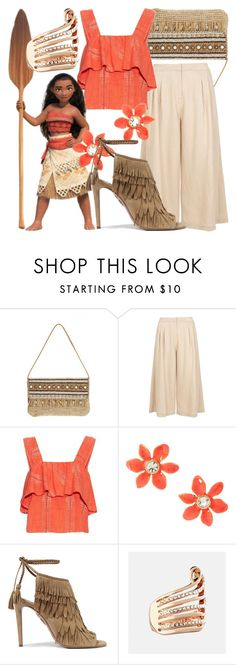 """Moana"" by fabulousgurl ❤ liked on Polyvore featuring Skemo, Dorothy Perkins, ace & jig, Kate Spade, Aquazzura, Avenue, disneybound and moana"
