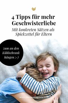 """Du bist jetzt so richtig sauer, oder?"" 4 Tipps zum Umgang mit GeschwisterrivalitätThanks for this post.How we can allow negative feelings. And thus promote sibling love and no longer fuel sibling rivalry. How we show our c# arent Parenting Teens, Parenting Humor, Parenting Advice, Baby Co, Mom And Baby, Baby Tips, Sibling Rivalry, Montessori Baby, Les Sentiments"