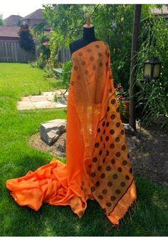 Matka silk saree with a jamdani pallu