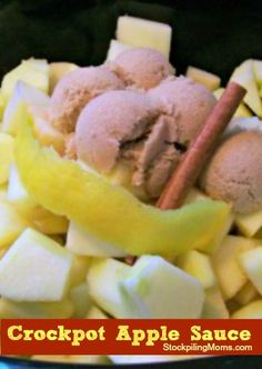 I love this recipe for Crockpot Applesauce.  It  is so easy to prepare and is full of taste. It is perfect for Fall.