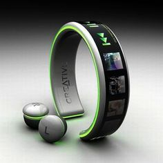 MP3 Player Creative, listen to the music from the wrist, still just a concept but want one when it comes out