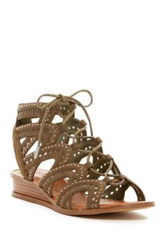 Maygan Ghillie Wedge Sandal Gladiator Sandals, Wedge Sandals, Low Wedges, Low Heels, Nordstrom Rack, Shoes, Style, Clothes, Fashion
