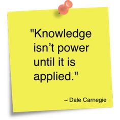 You've probably heard it before, knowledge is power. However, knowledge isn't power, but applied knowledge is power. Words Quotes, Wise Words, Me Quotes, Motivational Quotes, Inspirational Quotes, Sayings, Author Quotes, Quotes Images, Quotable Quotes