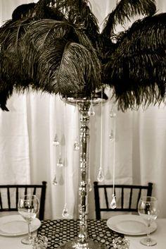 Moulin Rouge Theme - Burlesque Theme - Paris Theme - Masquerade Theme - Décor Inspiration  (Feathers!!)