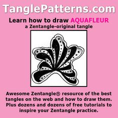 Step-by-step instructions to learn how to draw the Zentangle-original tangle…
