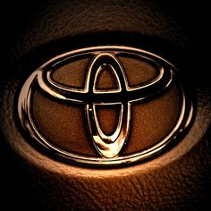 Dramatic! Love this picture of the Toyota emblem. It looks like it's trying to tell a scary story around the campfire.