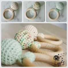 Crochet rattle - Lyfs by Audrey