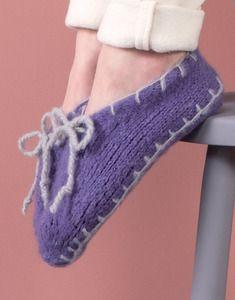 Modèle chaussons pilou + femme