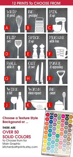 Funny Kitchen Art Print Set Spatula Cheese by KITCHENBATHPRINTS