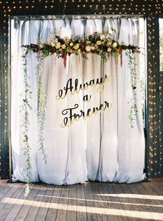 The prettiest ceremony backdrop: http://www.stylemepretty.com/little-black-book-blog/2016/04/12/the-prettiest-harry-potter-inspired-wedding-weve-ever-seen/ | Photography: Chris Isham - http://chrisishamphotography.com/