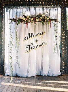 The prettiest ceremony backdrop: http://www.stylemepretty.com/little-black-book-blog/2016/04/12/the-prettiest-harry-potter-inspired-wedding-weve-ever-seen/ | Photography: Chris Isham - http://chrisishamphotography.com/